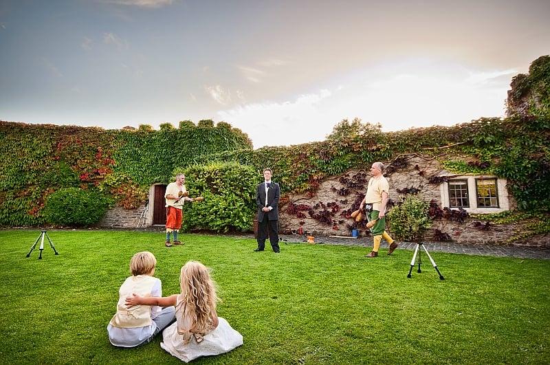 Photograph of wedding entertainment at Walton Castle, Bristol