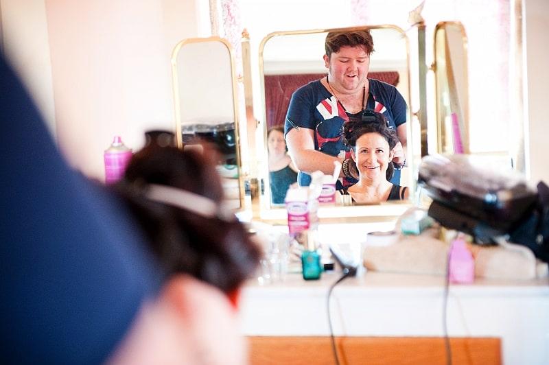 wedding make-up styling at Walton Castle