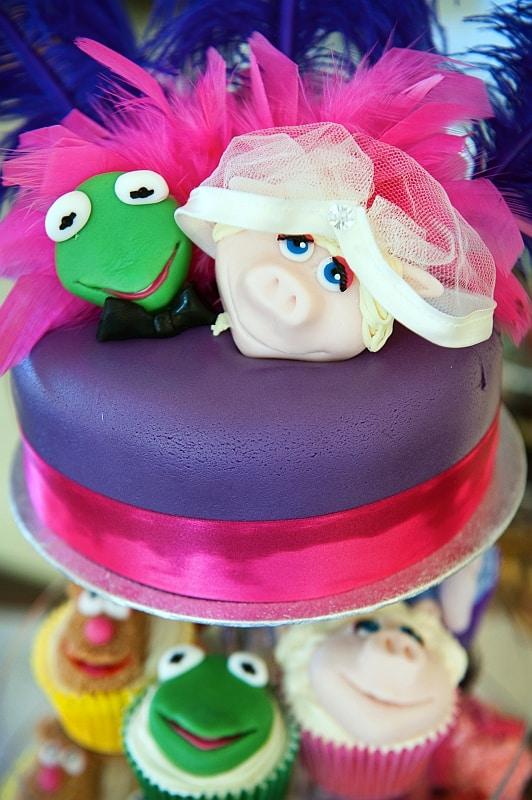 Wedding cake photograph- muppets wedding cake