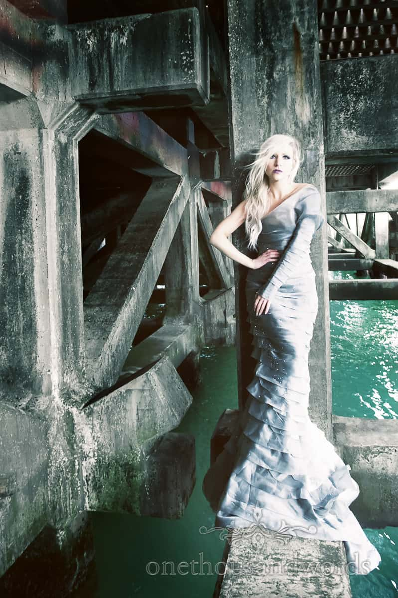 JFD Hellebore dress on bournemouth pier
