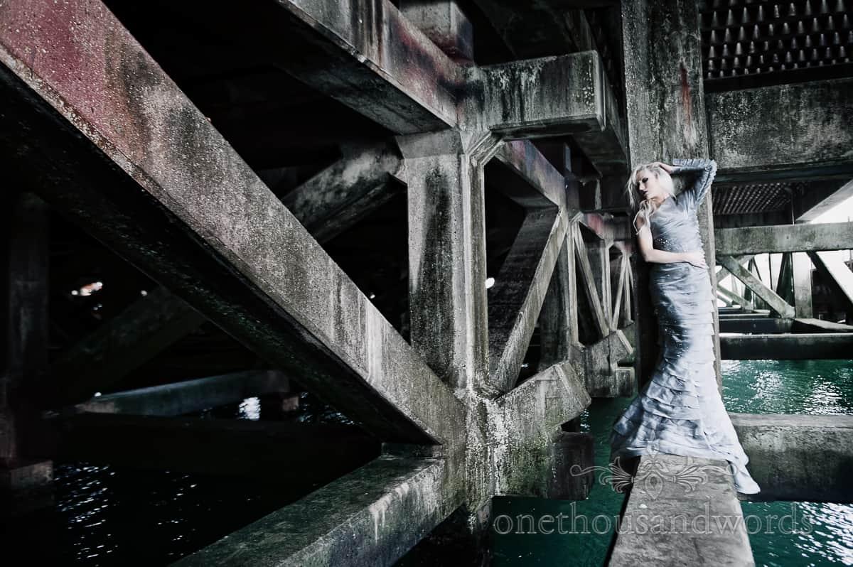 Bournemouth wedding dress photographs Bournemouth Pier