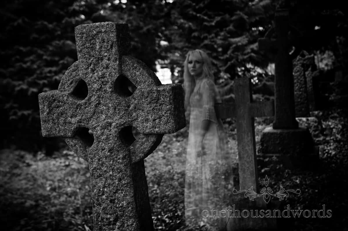 wedding dress photographs ghost