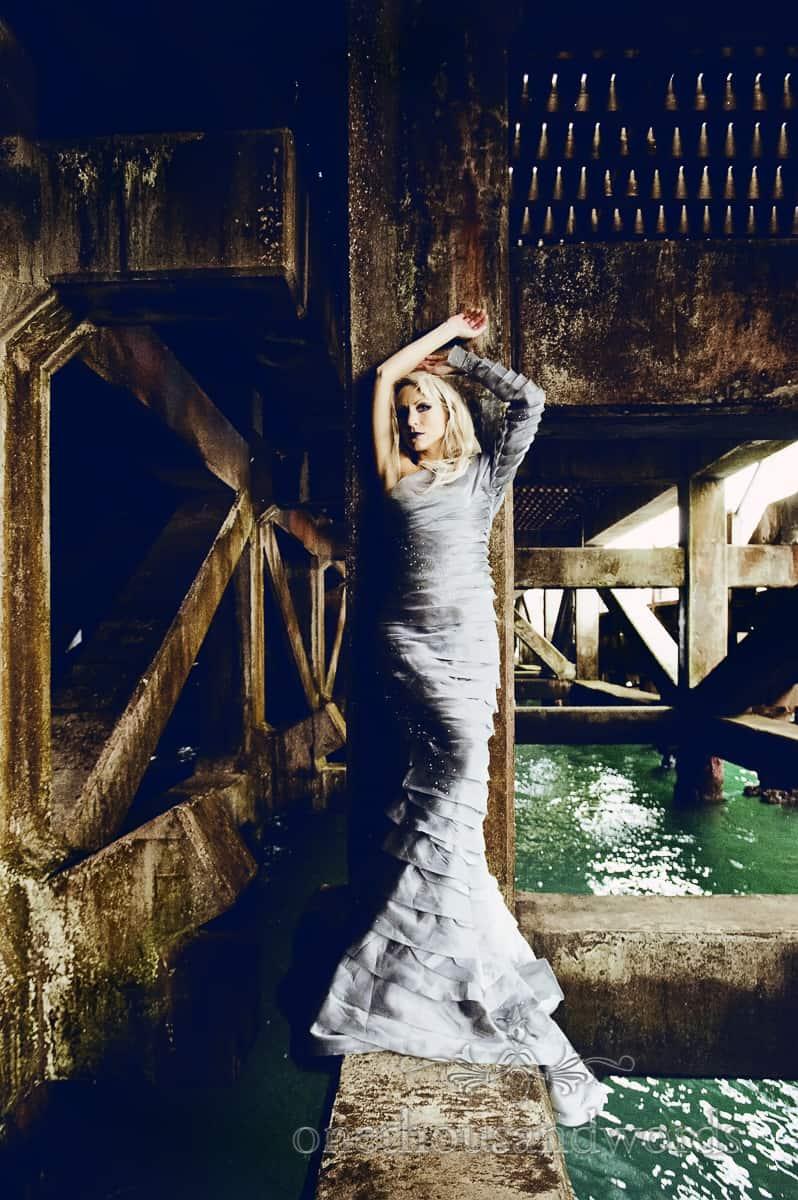 Bride in Hellebore Joanne flemming design wedding dress