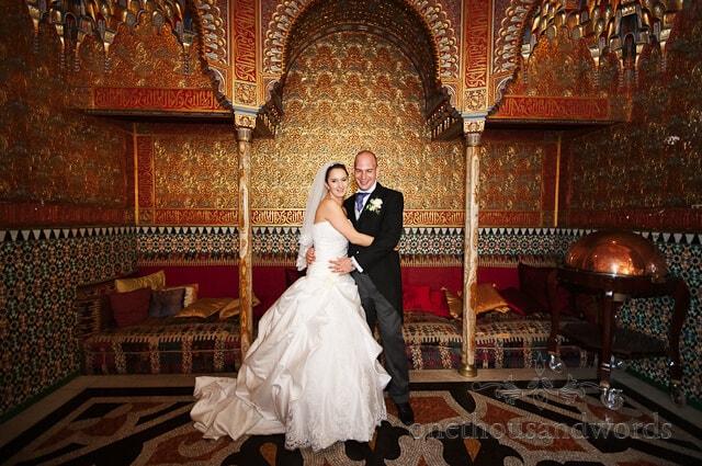 Alhambra room rhinefield house wedding