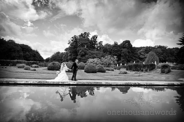 black and white bride groom Rhinefield House