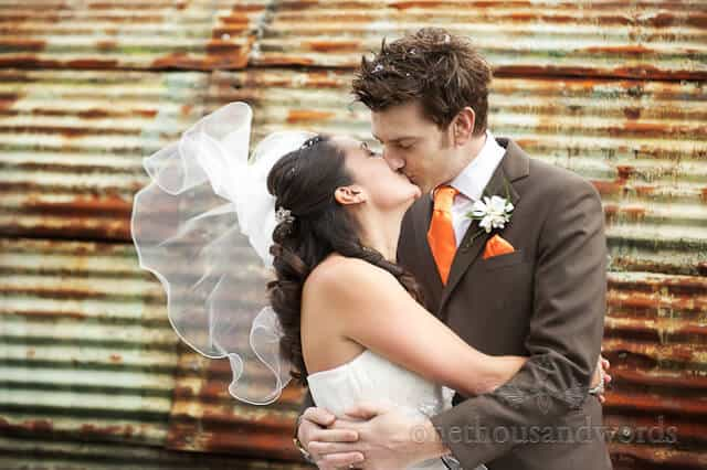 A Chocolate Orange wedding at Kingston Country Courtyard, Dorset