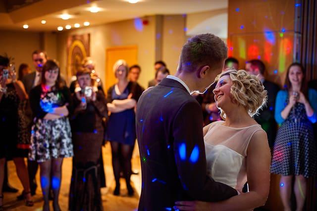 First dance in Warwickshire wedding photographs
