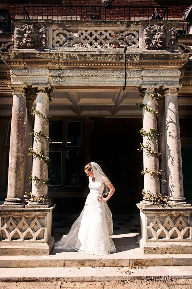Bride at Elmers Court Hotel wedding venue