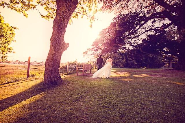 Sunset at Elmers Court Hotel Wedding