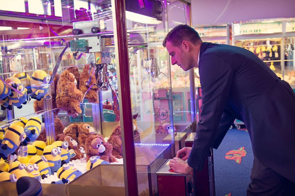 wedding photographer dorset swanage arcades