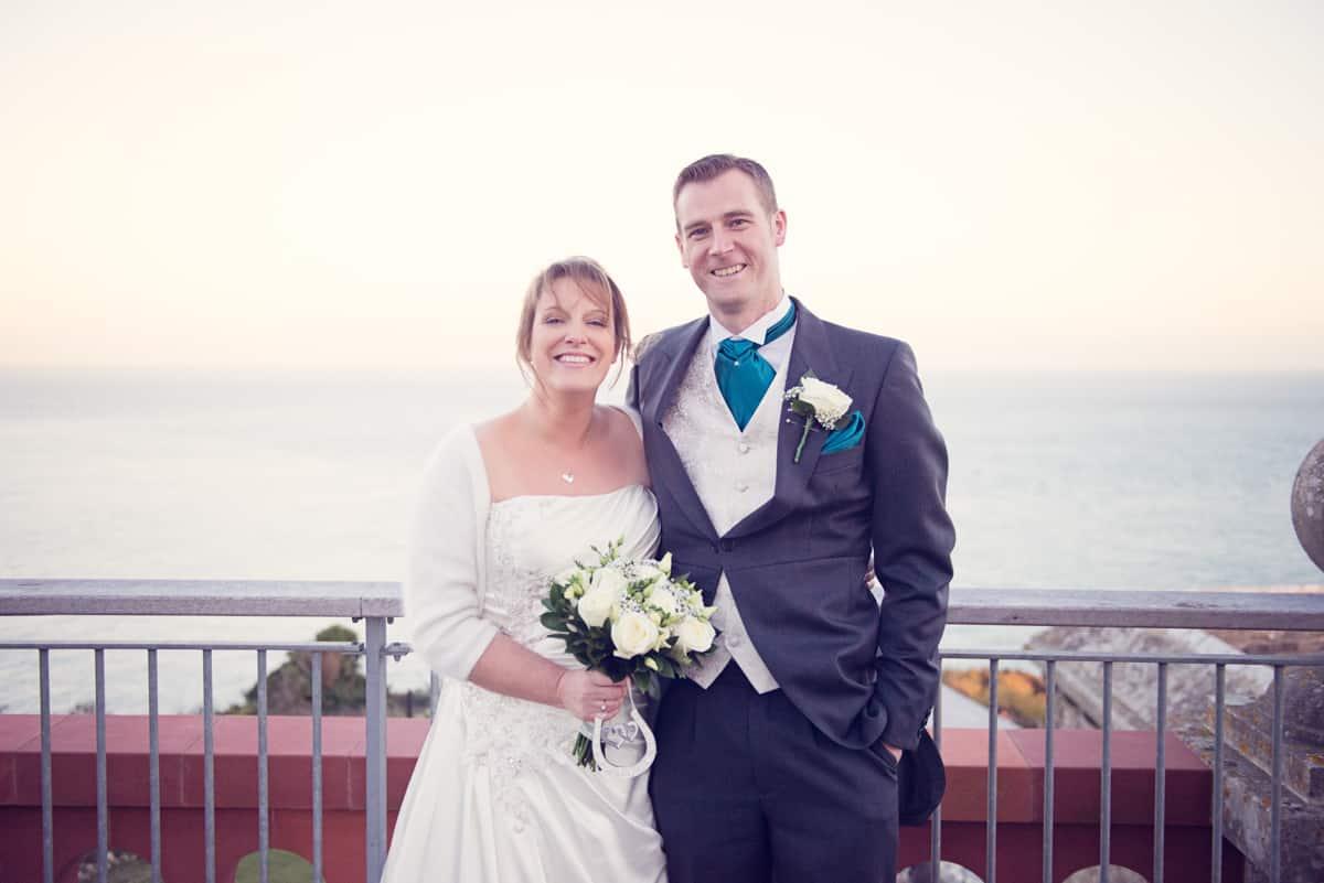 wedding photographer dorset photographs bride and groom