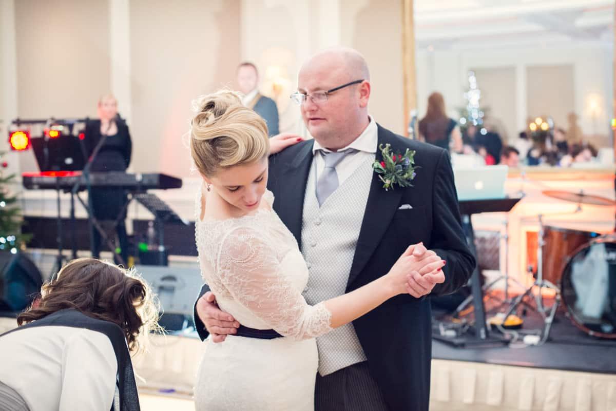 bride and groom dancing at Four Seasons Hotel