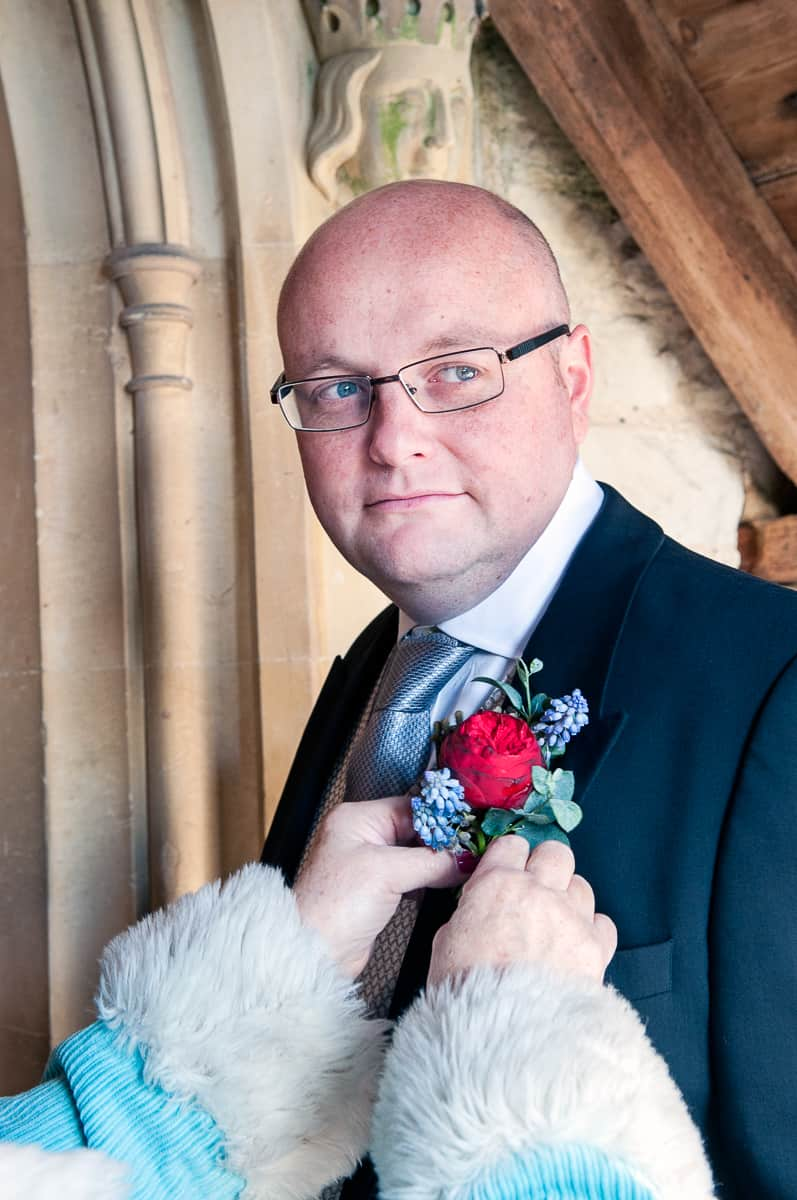 Wedding photographer in Hampshire photography of groom