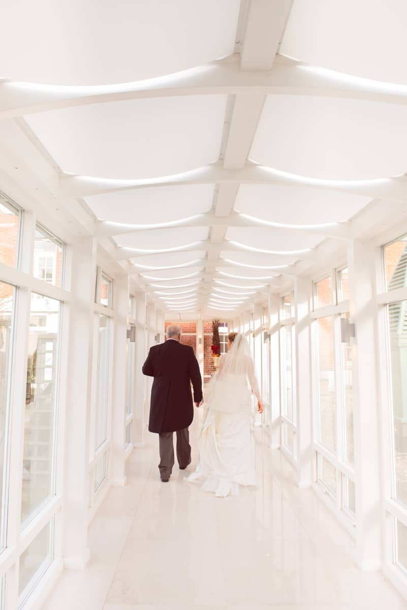 bride and her father at Four Seasons Hotel Hampshire wedding venue