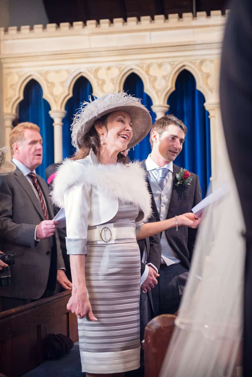 Wedding photographers in Hampshire capture mother of the bride at Hampshire church wedding