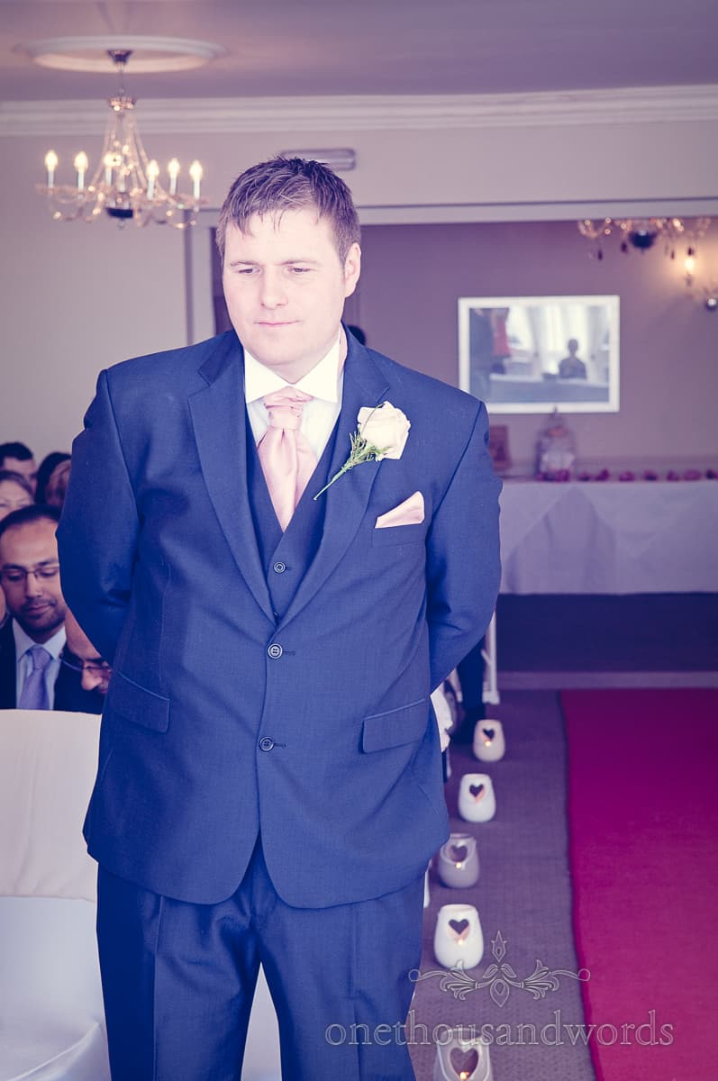 wedding ceremony at Christchurch Harbour Hotel