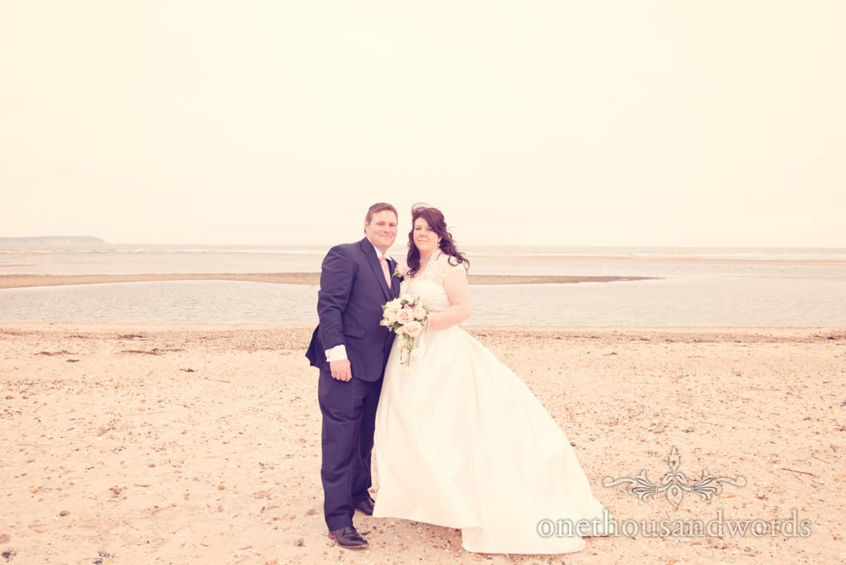 Bride and Groom on Dorset beach