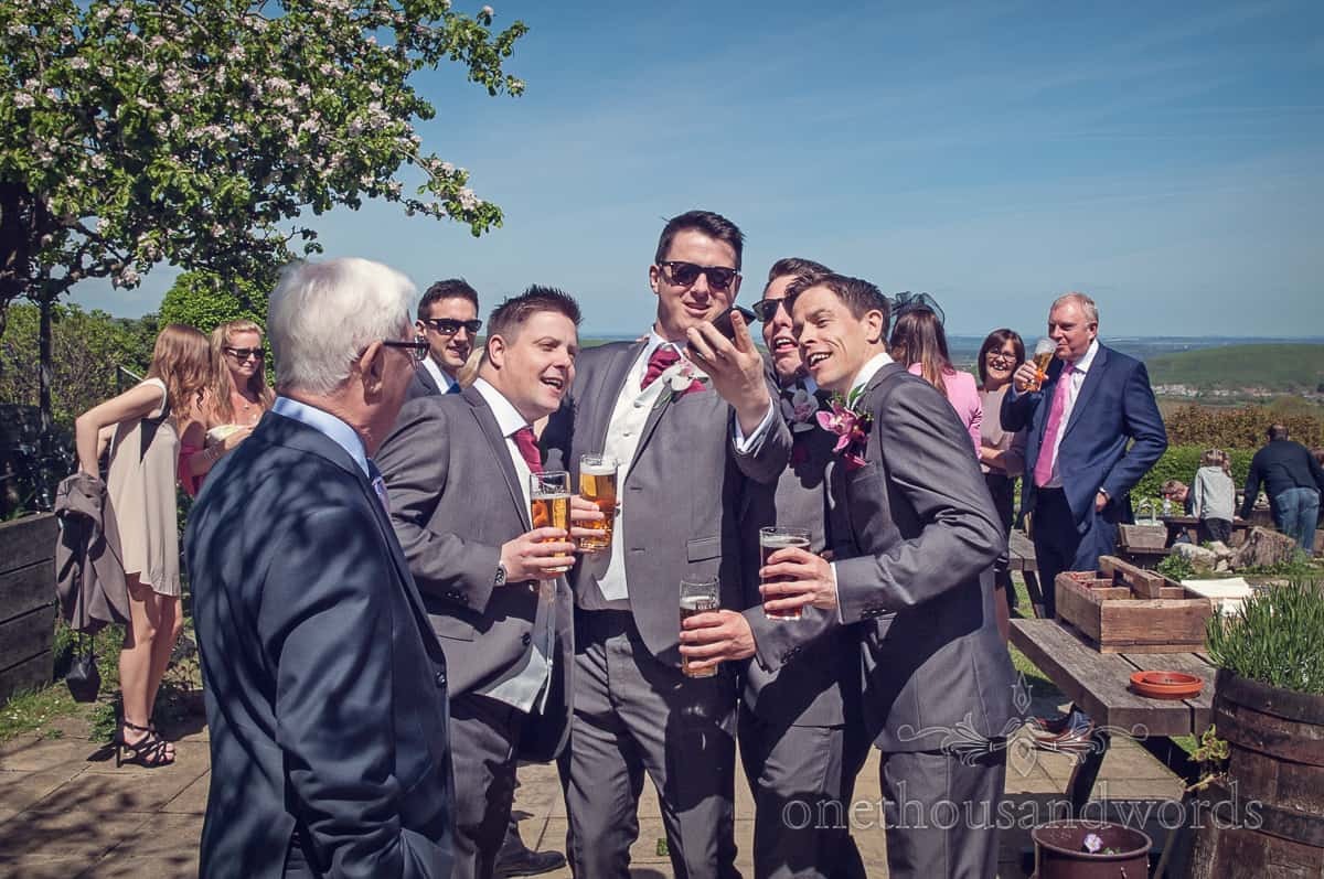 wedding selfie at Scott Arms, Dorset