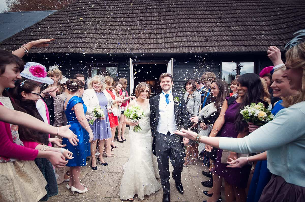 wedding confetti at the clock barnwedding confetti at the clock barn