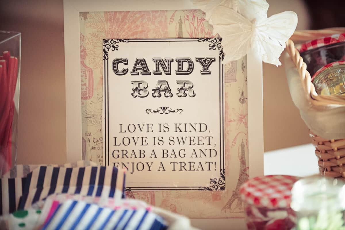 wedding sweets at Clock Barn