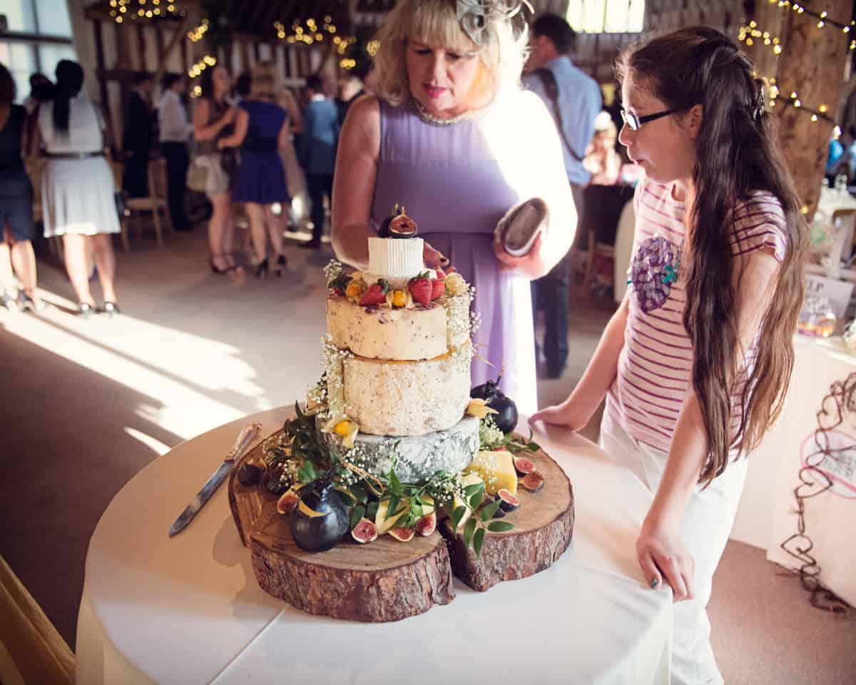 Wedding cheeses at The Clock Barn