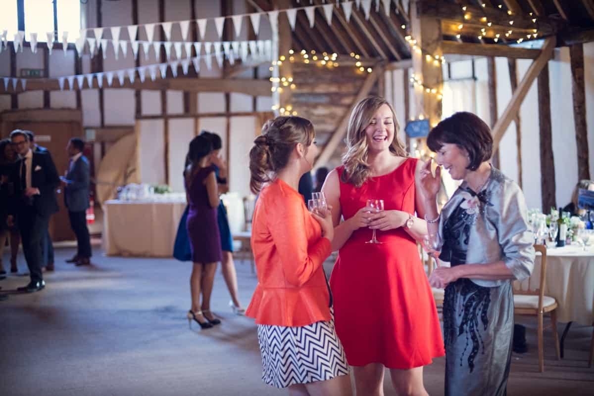 wedding guests at the Clock Barn
