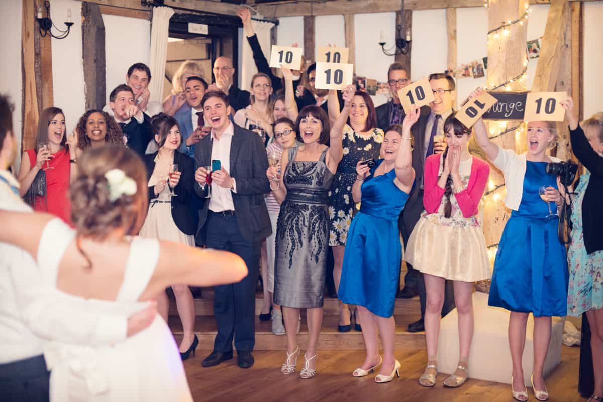 Wedding guests rate first dance at 10