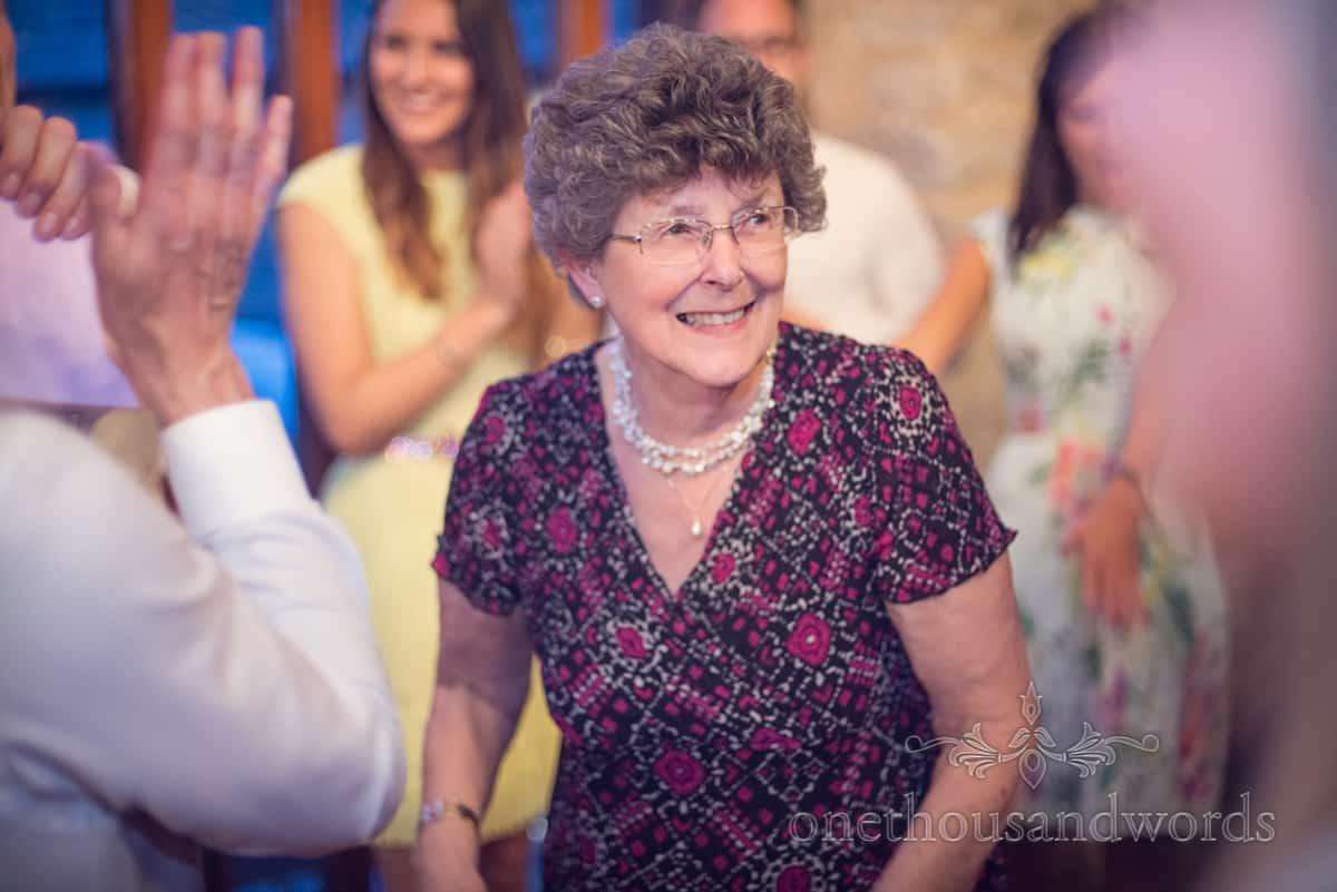 grandma dancing at Kingston Country Courtyard