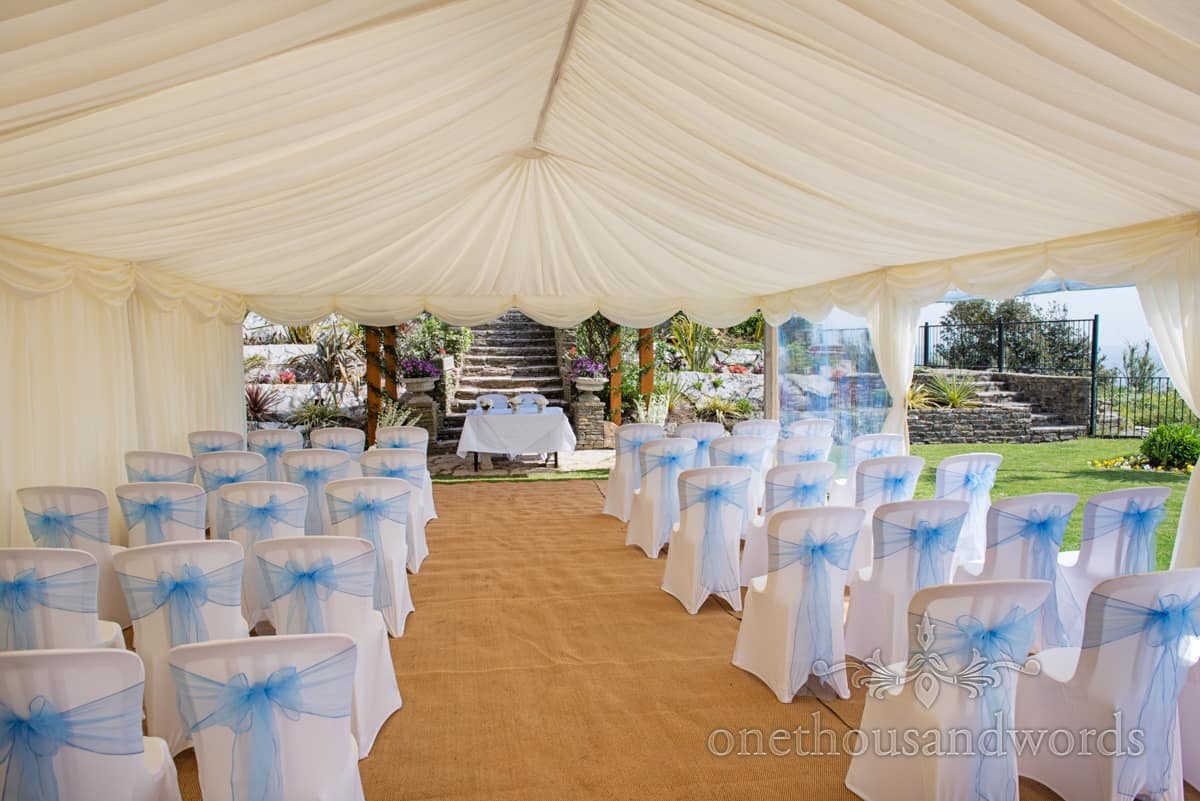 wedding marquee by the sea Grand Hotel