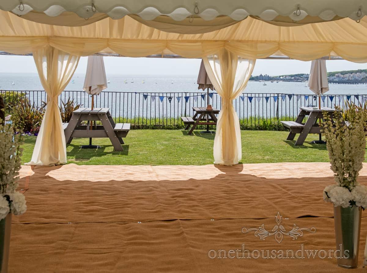 Seaside views wedding marquee, Swanage