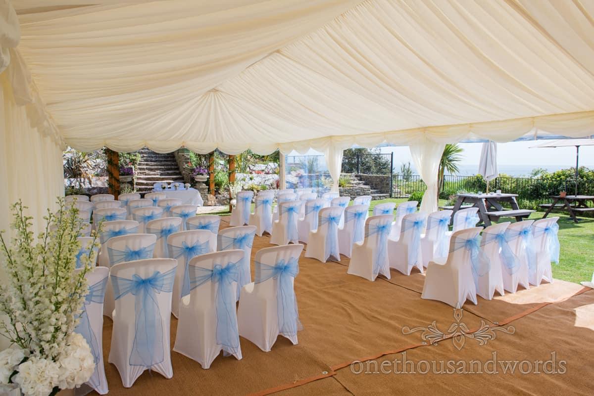 wedding marquee in Dorset