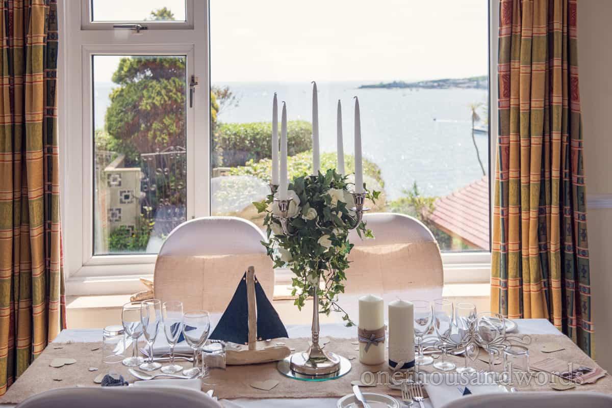 Sea side themed wedding table
