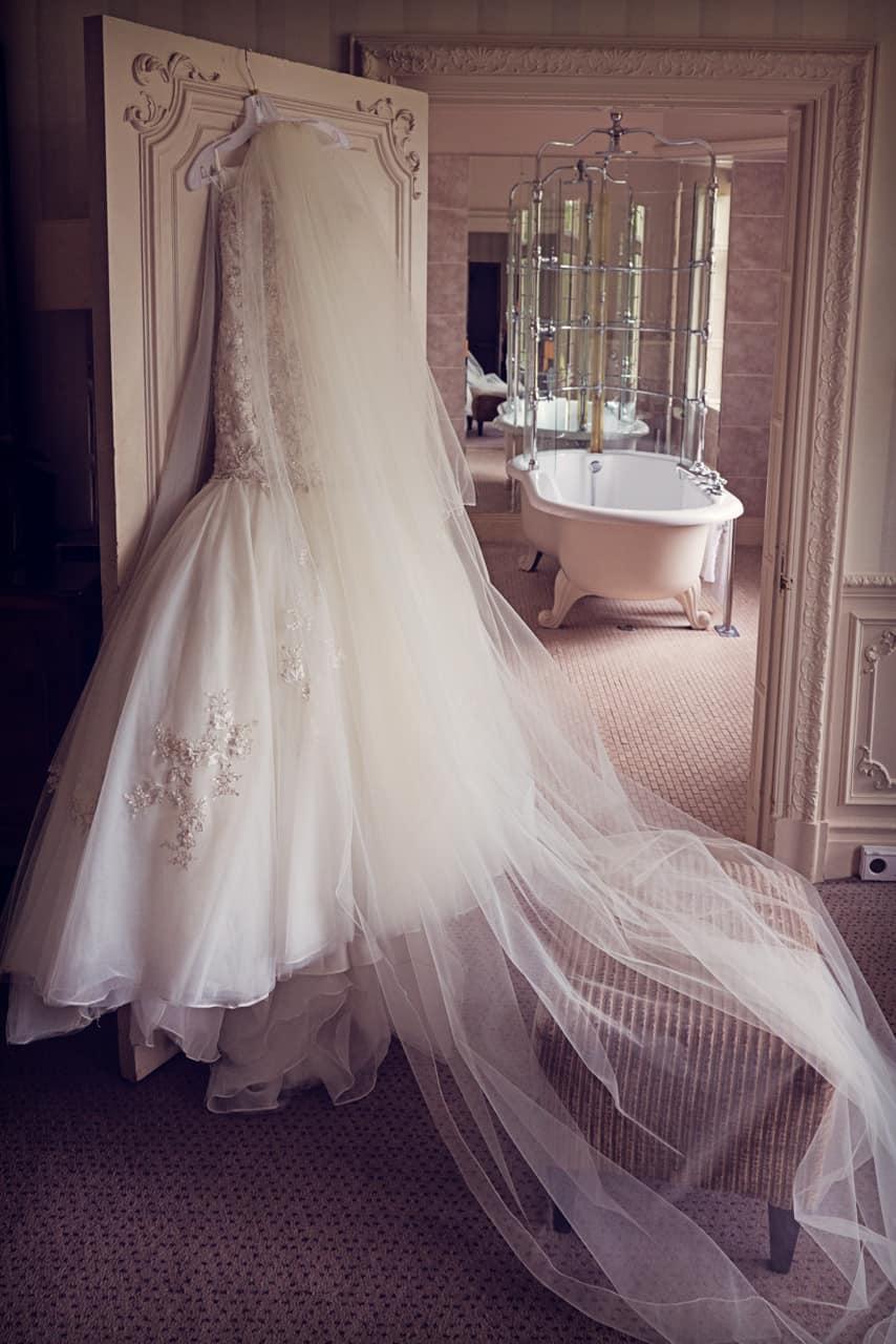 Photograph of Wedding Dress at Rhinefield House