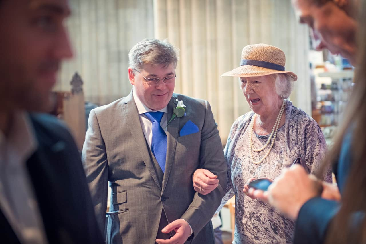 Grooms bother at Romsey Abbey Wedding