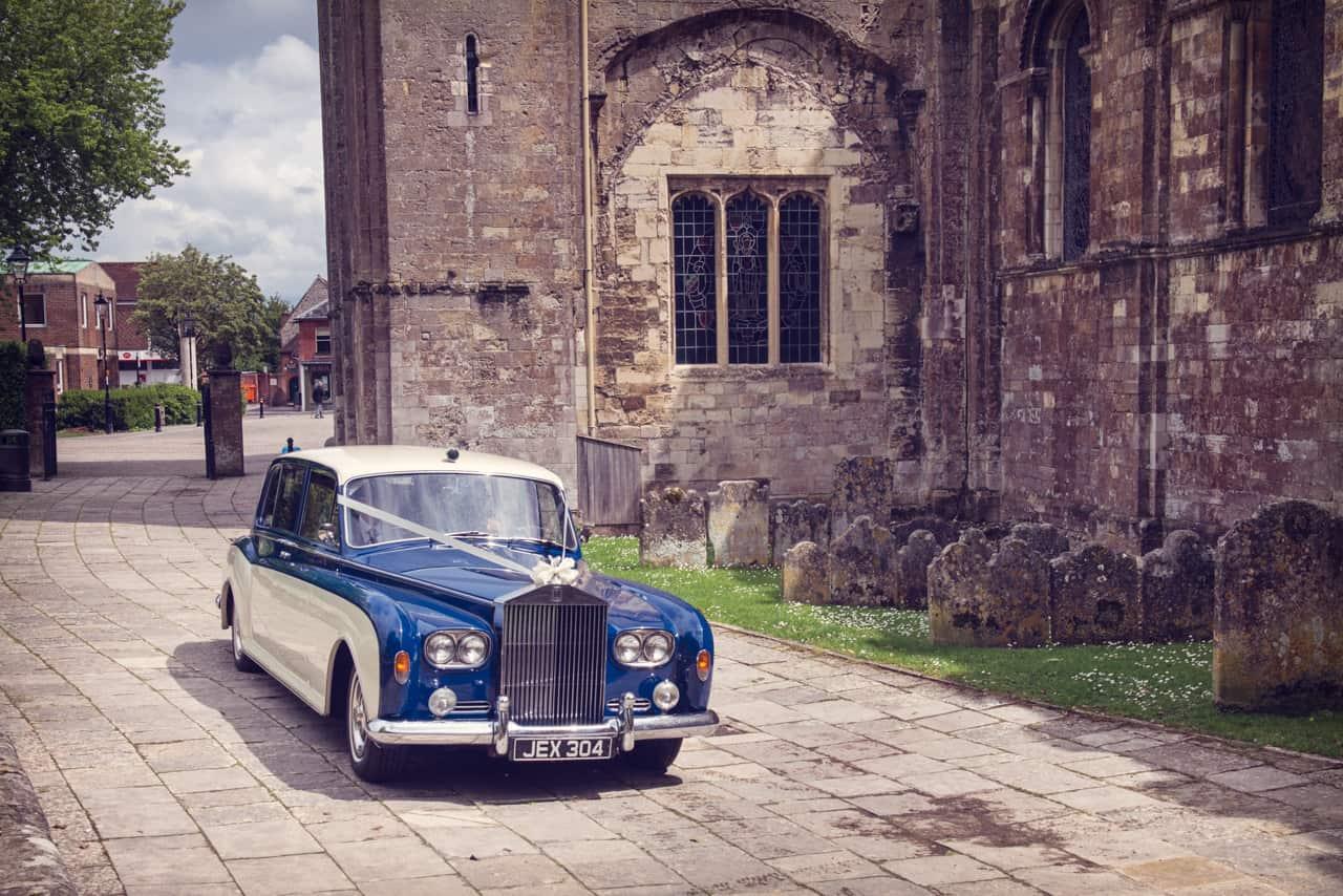 Royal Wedding car at Romsey Abbey Wedding Veue
