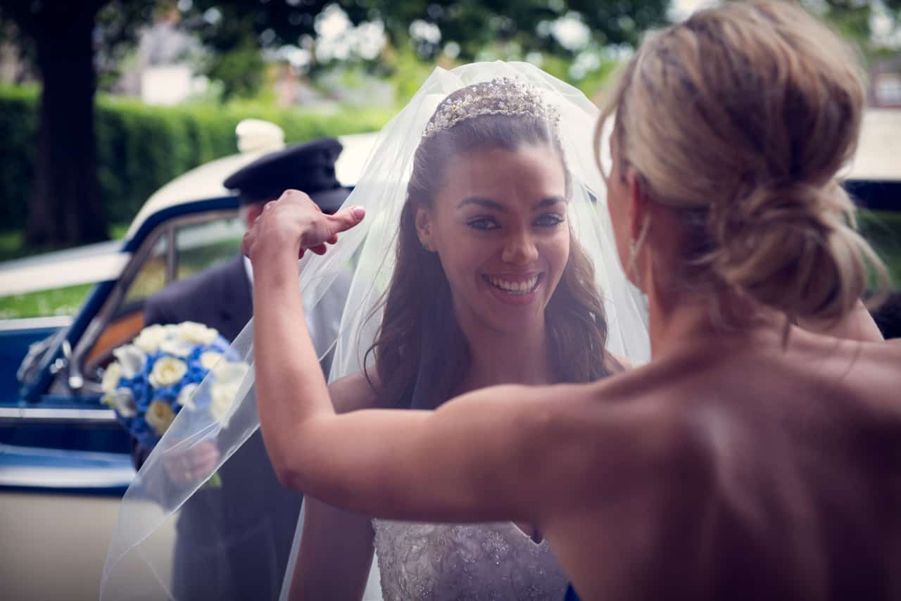 Bride portrait at Romsey Abbey Wedding Venue