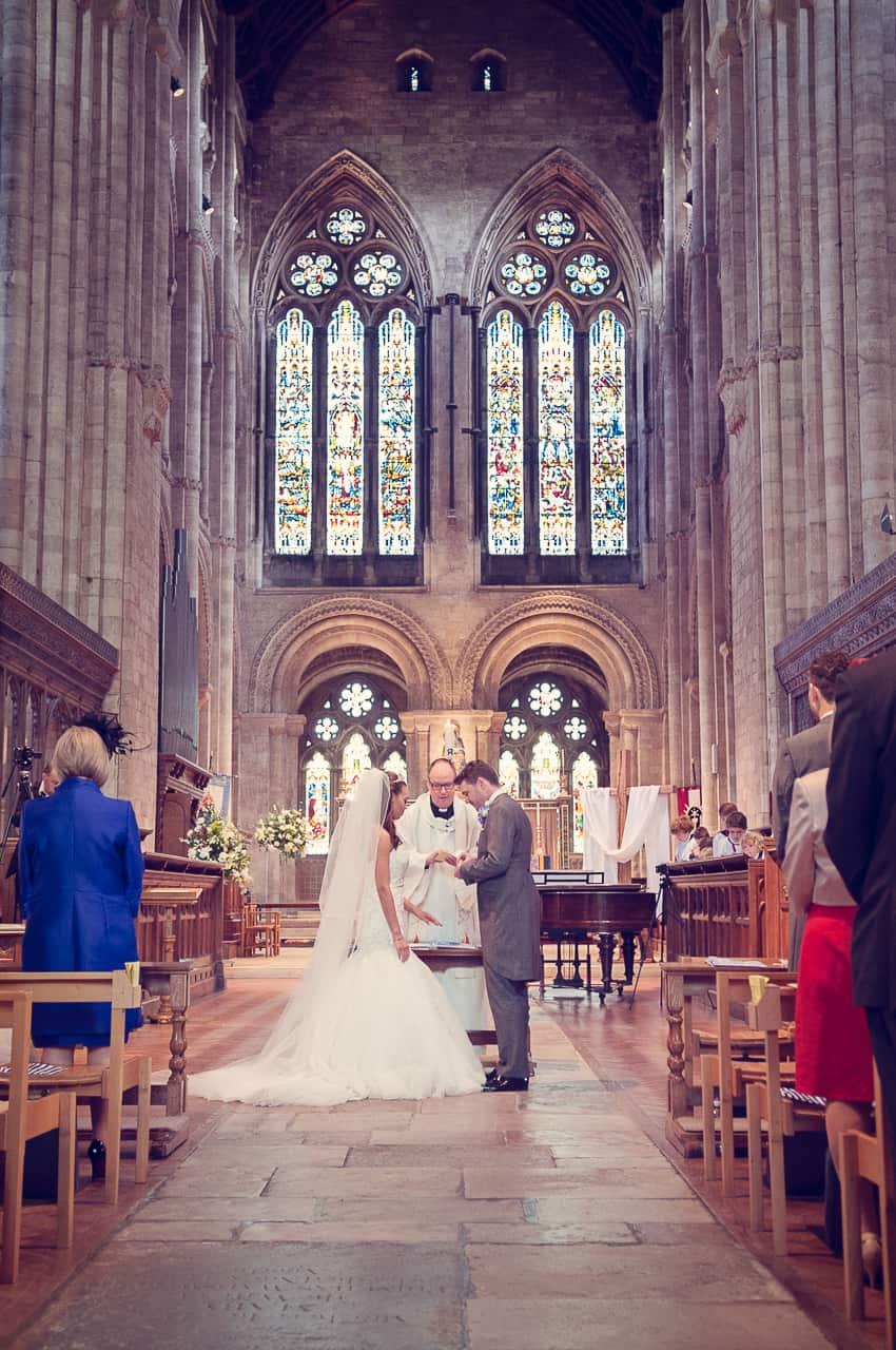 Wedding vows at Romsey Abbey wedding