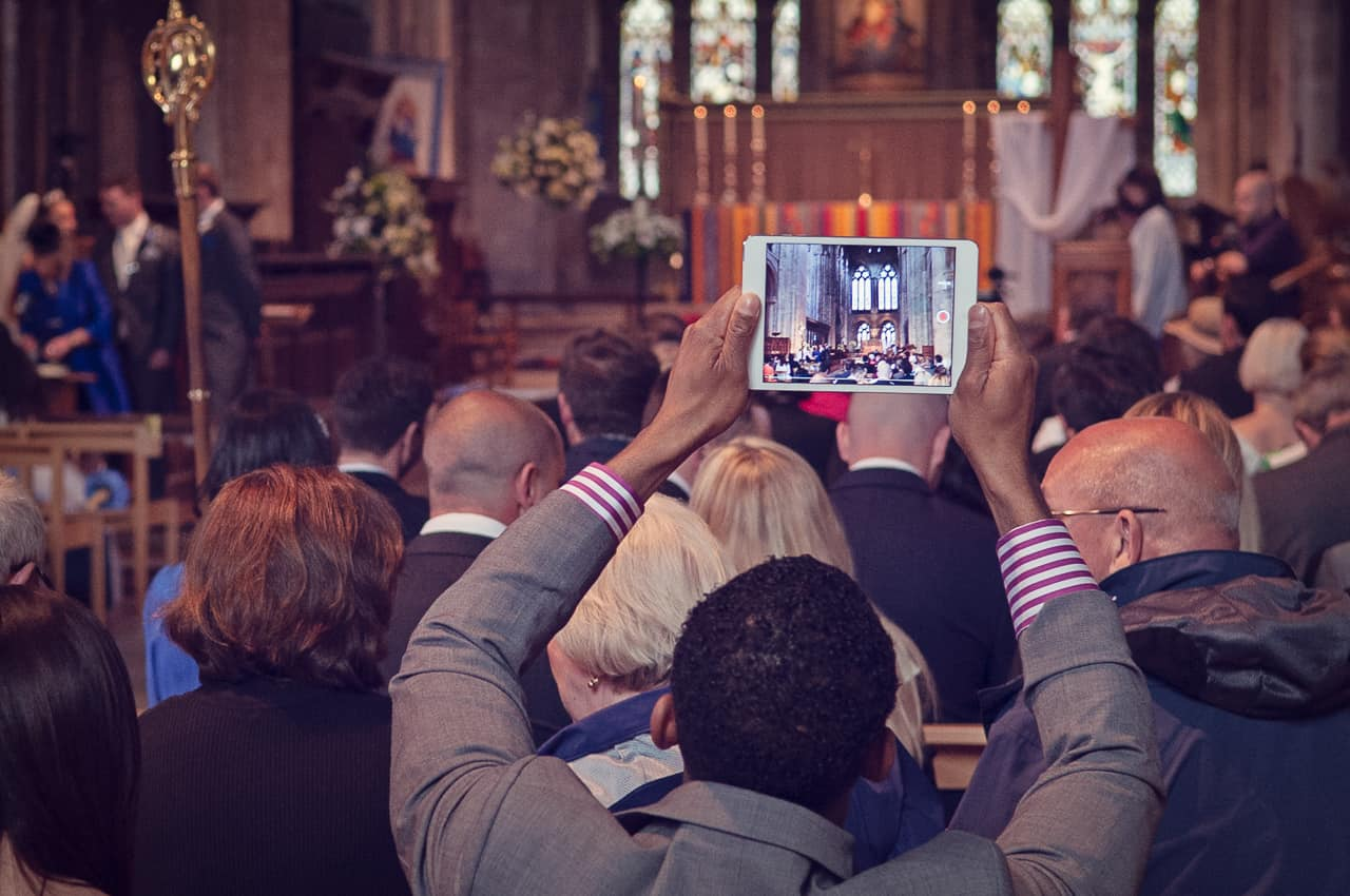 Wedding guest records Romsey Abbey Wedding