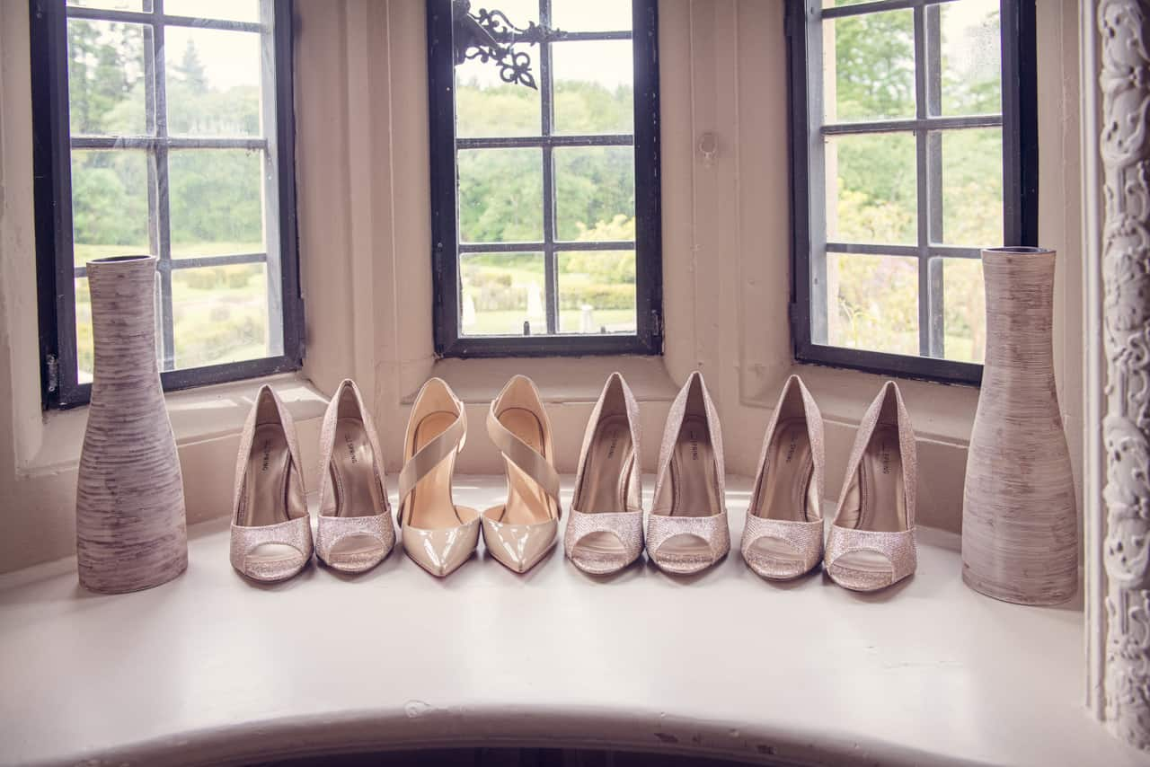 Christian Louboutin Wedding shoes at Rhinefield House