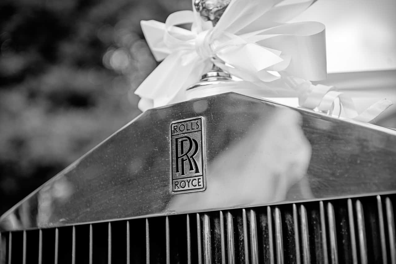 Royal Rolls Royce at Rhinefield House wedding
