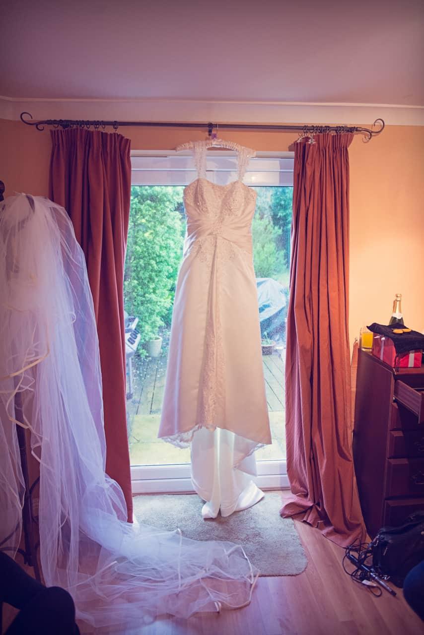 Wedding dress photograph