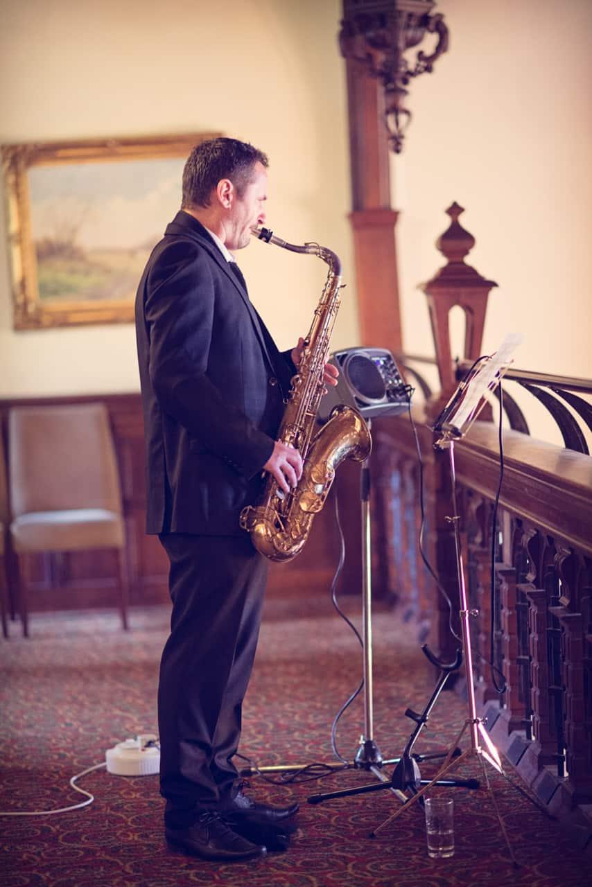 Richard Beesley wedding saxophanist at Rhinefield House