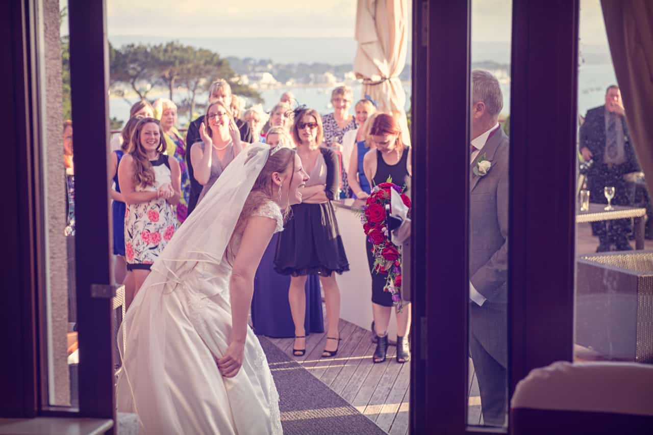 Bride and guests at Harbour Heights Wedding