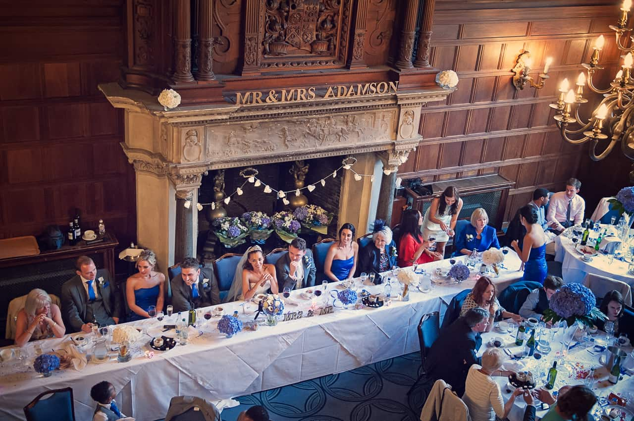 Top table at Rhinefield House Hotel Wedding