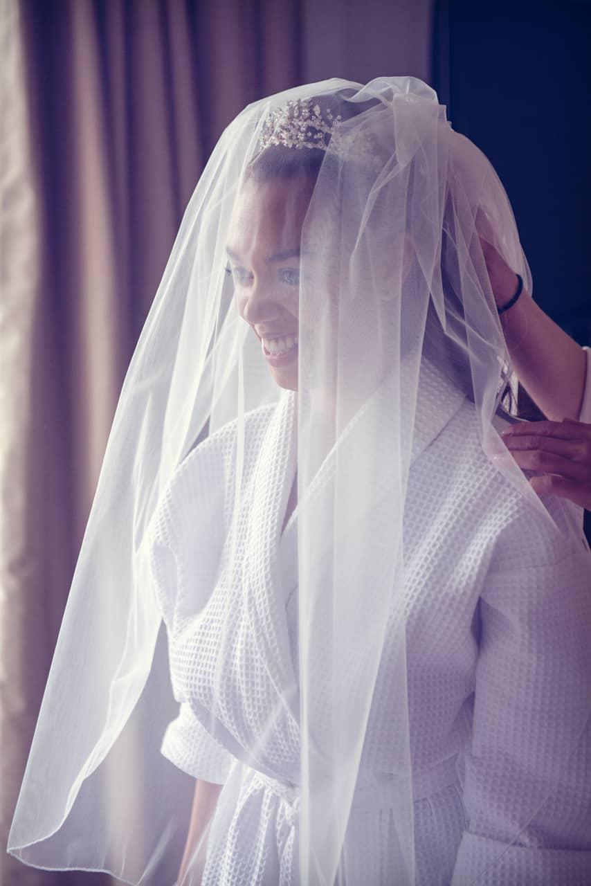 Wedding Veil at Rhinefield House Hotel