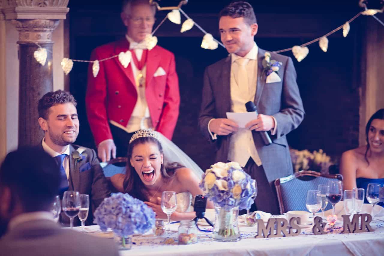 Wedding speeches at Rhinefield House