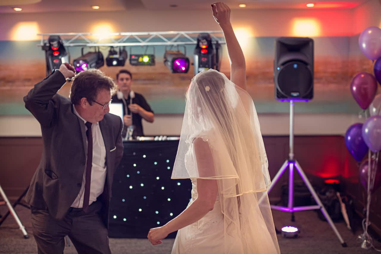 Bride dancing with father at Harbour Heights wedding