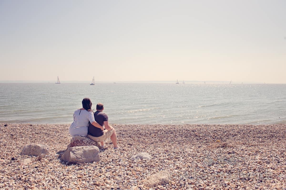 Hampshire Beach Engagement Photographs With Hannah & Stuart