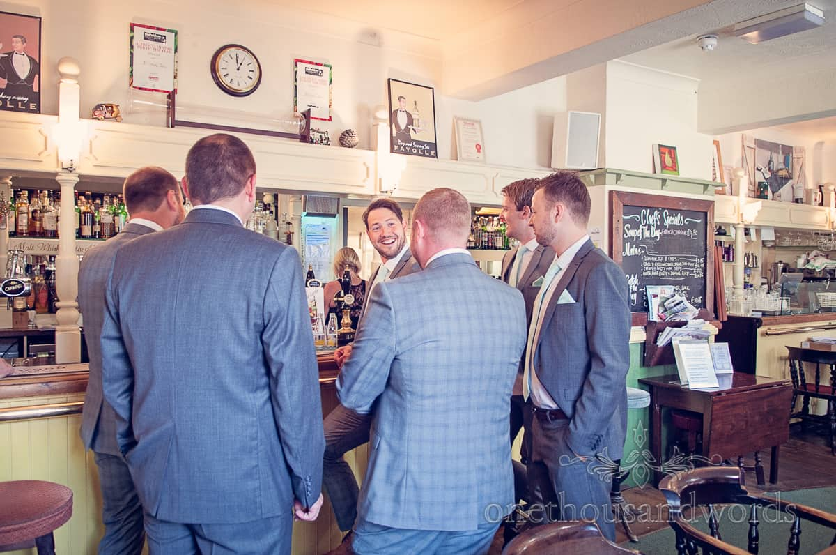 Groomsmen at Nelson Tavern, Christchurch