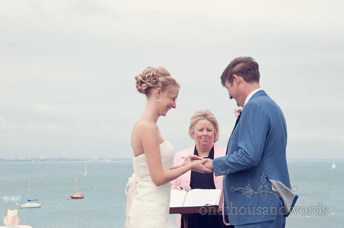 Wedding ceremony by sea